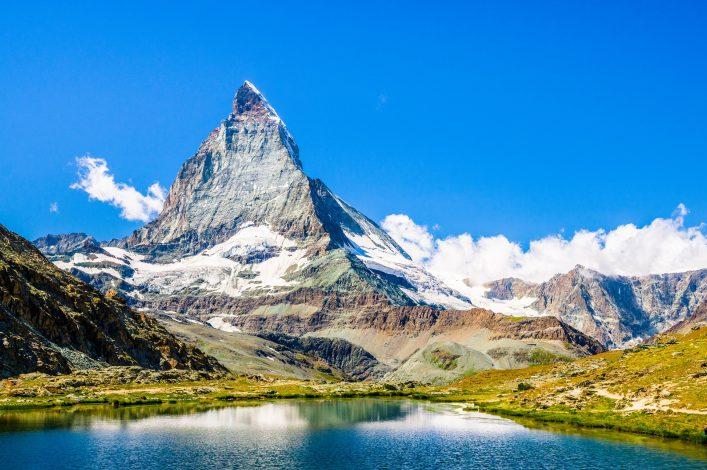Der Berggipfel des Matterhorn in der Schweiz