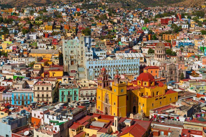 bunte Häuser in Guanajuato
