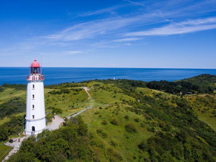 Leuchtturm auf der Insel Hiddensee in der Ostsee