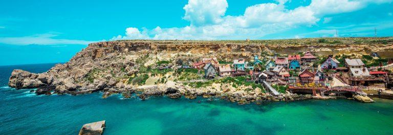 Malta_Popeye_Dorf_Bunt_Häuschen_Küste