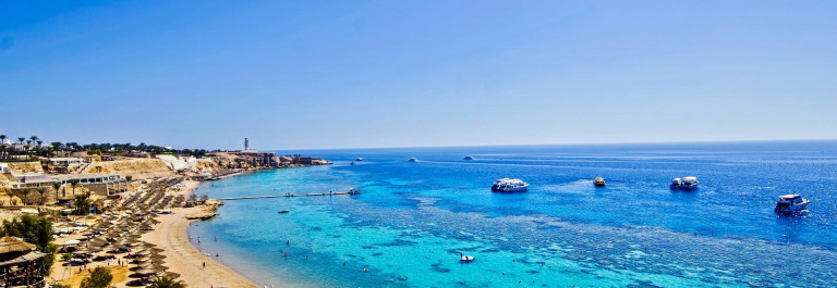 Ein Strand in Sharm el Sheikh.