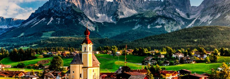Wilder Kaiser mountain in Austria