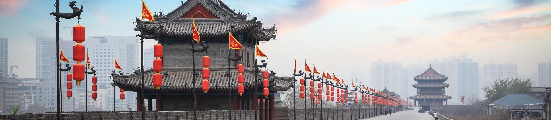 De skyline van Xian