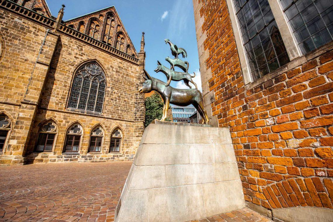 Bremer Stadtmusikanten Statue in Bremen