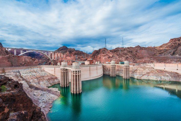 Der Hoover Dam von oben