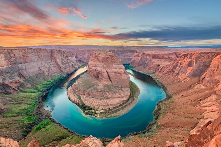 Der Horseshoe Bend mit dem Colorado River