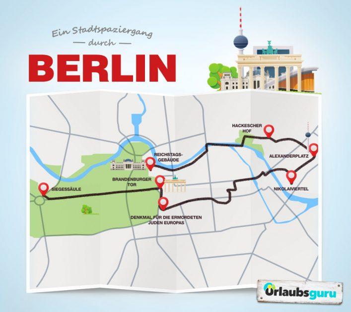 Ein Stadtspaziergang zu den schönsten Sehenswürdigkeiten in Berlin