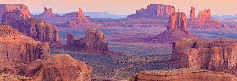 Sunrise in Hunts Mesa, Monument Valley, Arizona, USA shutterstock_257482249