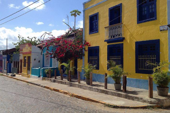 Kolonialstadt Olinda in bunten Farben