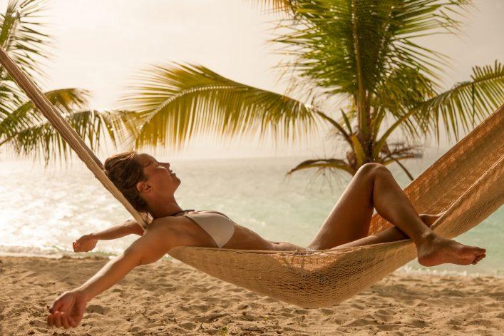 Im Paradise Beach könnt ihr in der Hängematte entspannen