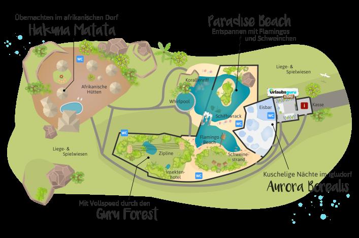 Der Lageplan der Urlaubsguru Island