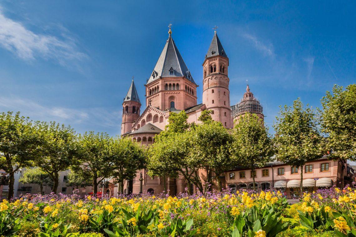 Kathedrale in mainz in Rheinland-Pfalz