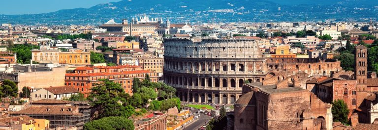 Ariel view of The Colosseum in Rome – Ital._shutterstock_103780211 (1)