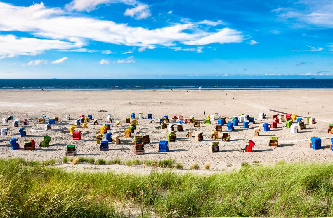Juist, Strand mit Strandkörben