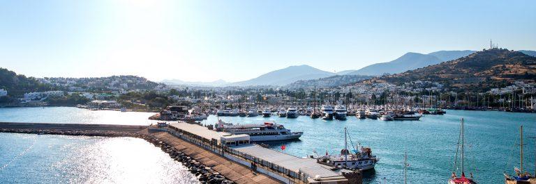 Boats in the port of Bodrum in Turkey_shutterstock_243371485