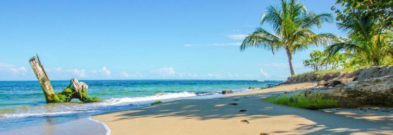 Beach caribbean of Costa Rica close to Puerto Viejo