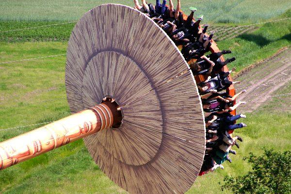 Ansicht des Kumba Twister im Serengeti-Park