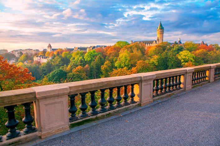 Der Ausblick auf das Petrusstal in Luxemburg