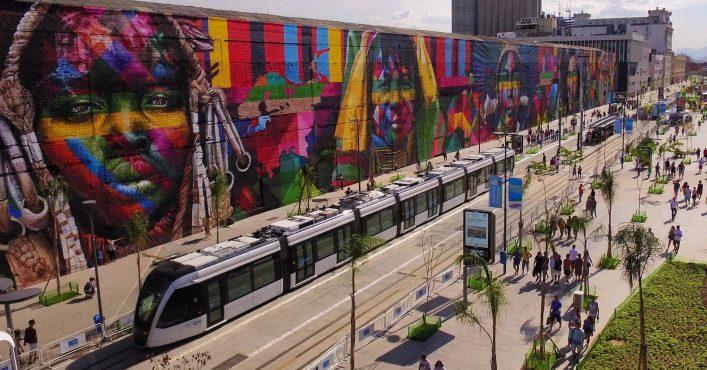 Am Porto Maravilha in Rio findet sich ein wahres Graffiti Kunstwerk