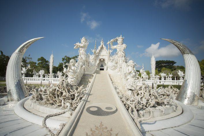 Tempel Wat Rong Khun in Thailand