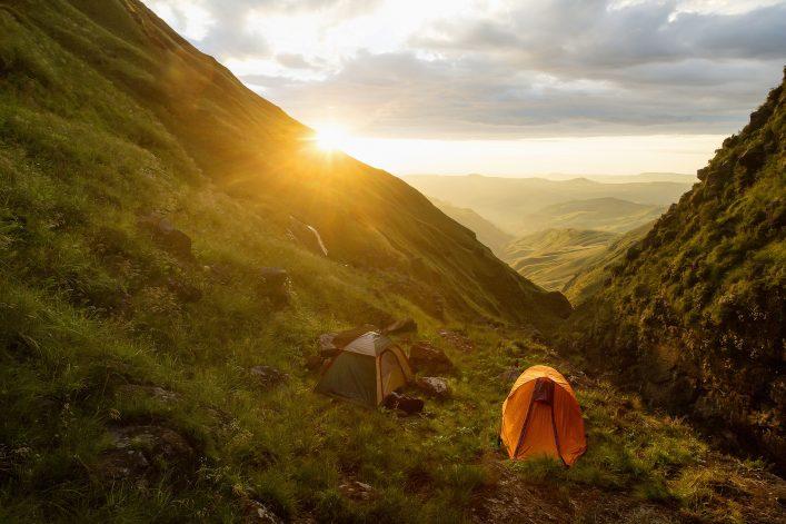 Camping in den Drakensbergen.