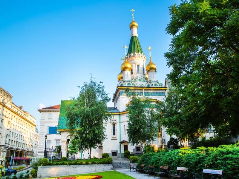 St. Nicholas Kirche in Sofia, Bulgarien