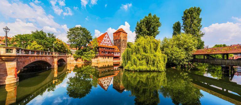 egnitz river in Nuremberg, Germany shutterstock_413881126-2