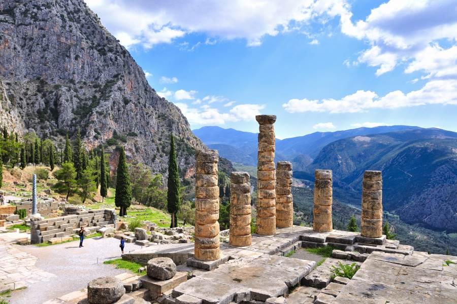 Ruinen von Delphi in Griechenland