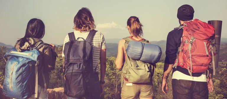 Backpacker Camping Hiking Journey Travel Trek Concept_436897498