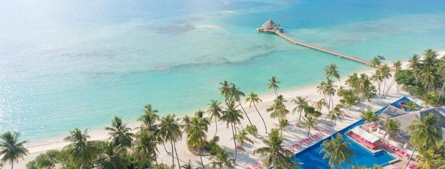 Luftansicht der des Hotels Kandima Maldives