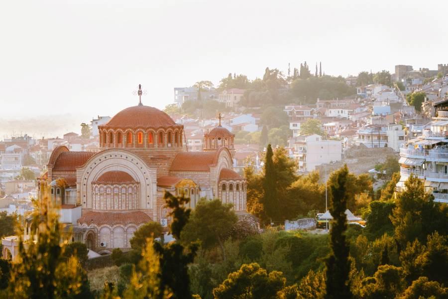 Luftansicht Thessaloniki auf dem griechischen Festland