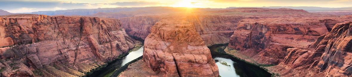 Blick auf den Horseshoe canyon in Arizona