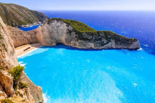 Beautiful Navagio Beach (Shipwreck beach) on Zakynthos Island, Greece shutterstock_310952513-2 x2000