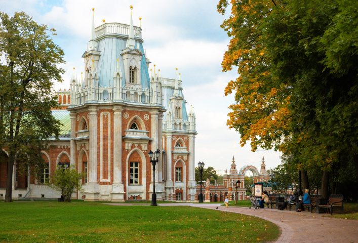 Im Zarizyno Park in Moskau