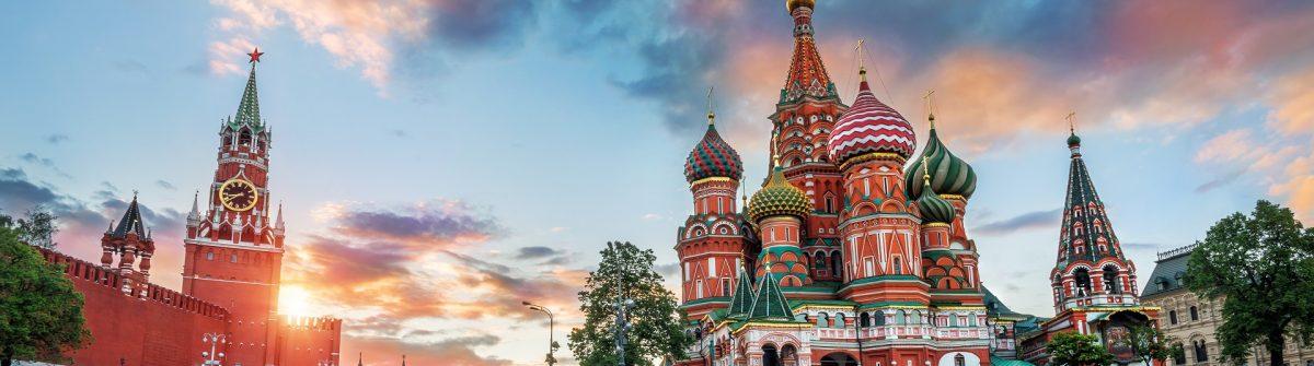 Die Basilius Kathedrale auf dem Roten Platz in Moskau