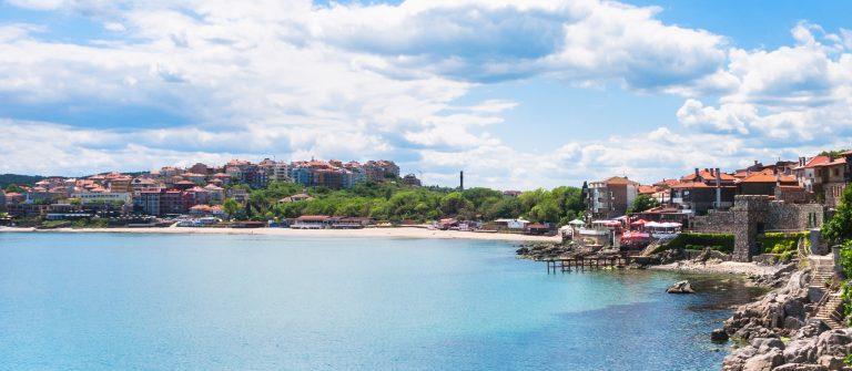 urban beach in Sozopol town, Bulgaria