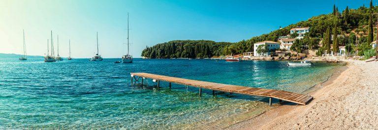 Beach in Kalami, Corfu iStock_000085792653_Large-2
