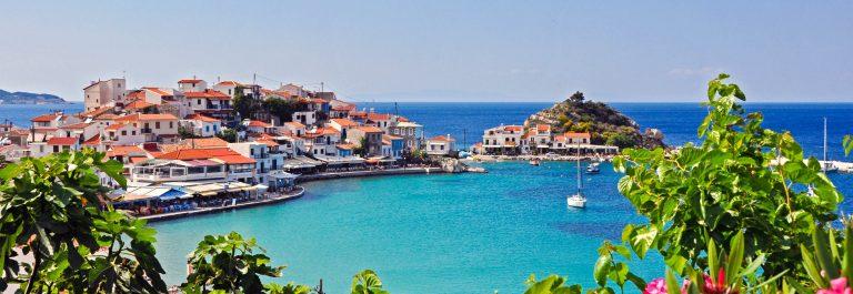 Beautiful Kokkari Beach on greek island Samos Greece iStock_000026291319_Large-2