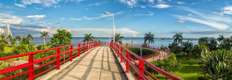 Pedestrian overpass in Panama city, Panama_583010518