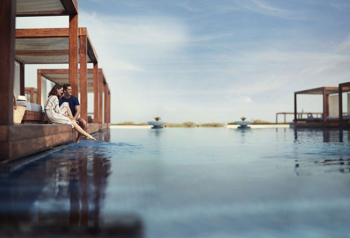 Ein Hotel auf der Insel Saadiyat