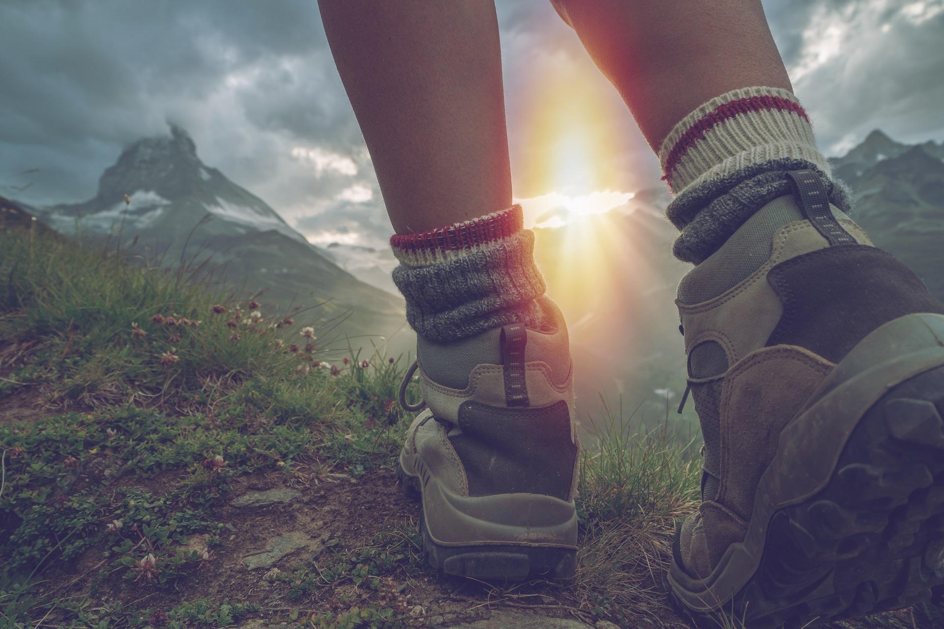Wanderschuhe in der Natur