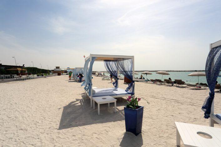 Der Yas Beach in Abu Dhabi