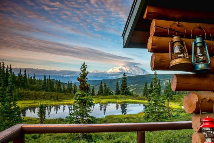 Eine Lodge im Denali Nationalpark in Alaska