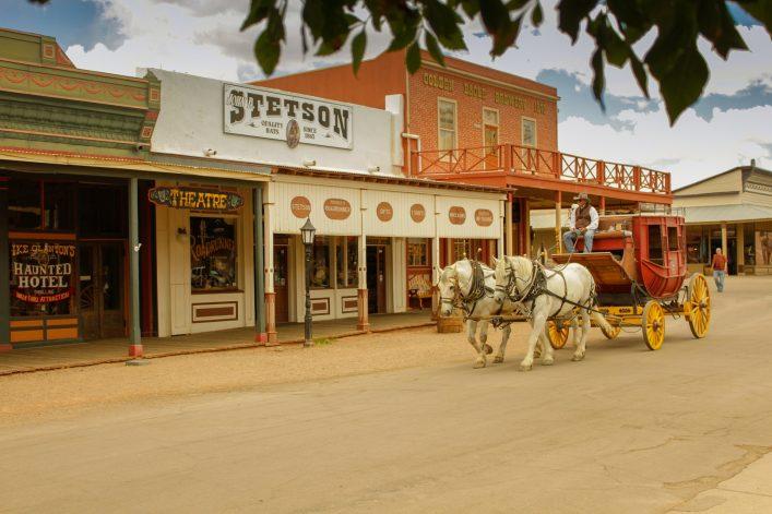 Eine Postkutsche in Tombstone