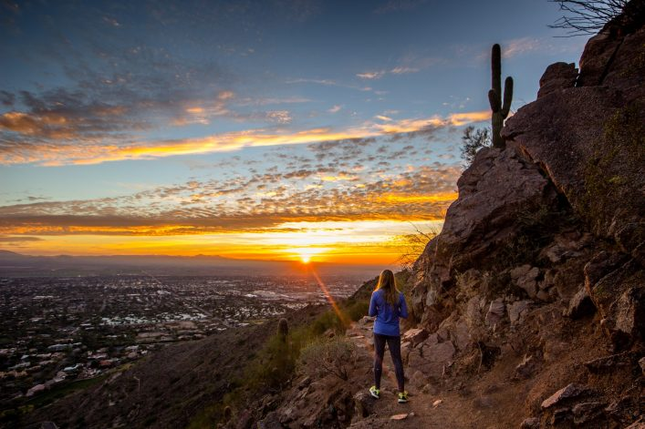 Blick über Phoenix in Arizona