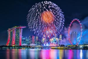 Silvester im Warmen in Singapur