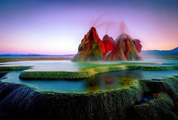 Fly Geyser Evening Nevada USA iStock_000016073550_Large-2
